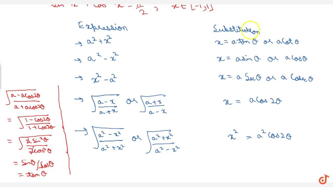 Differentiation by substitution