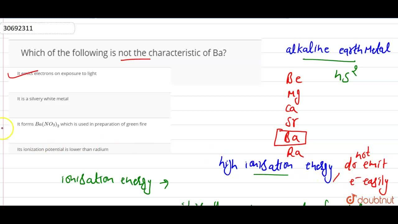 Solution for Which of the following is not the characteristic o