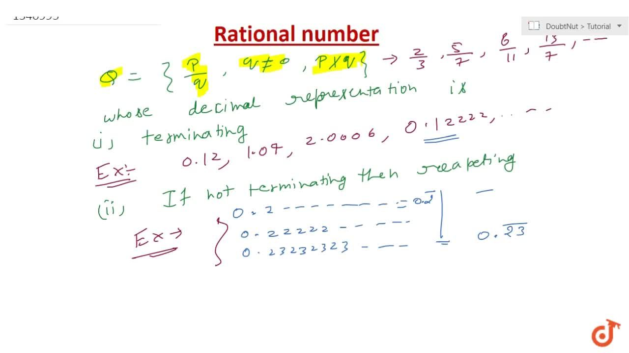 Rational Number with examples