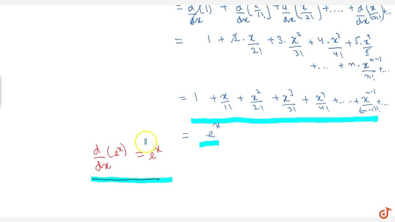 Differentiation of exponential function