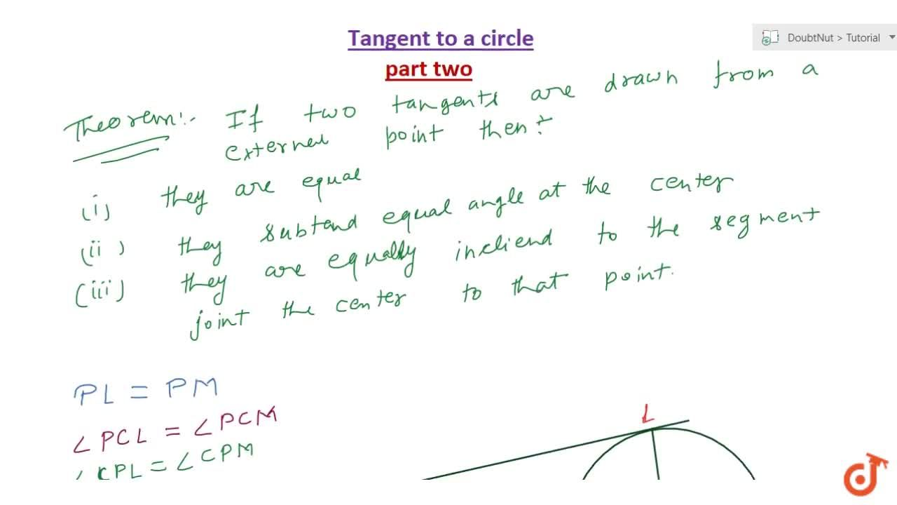 Solution for If two tangents are drawn to a circle from an exte