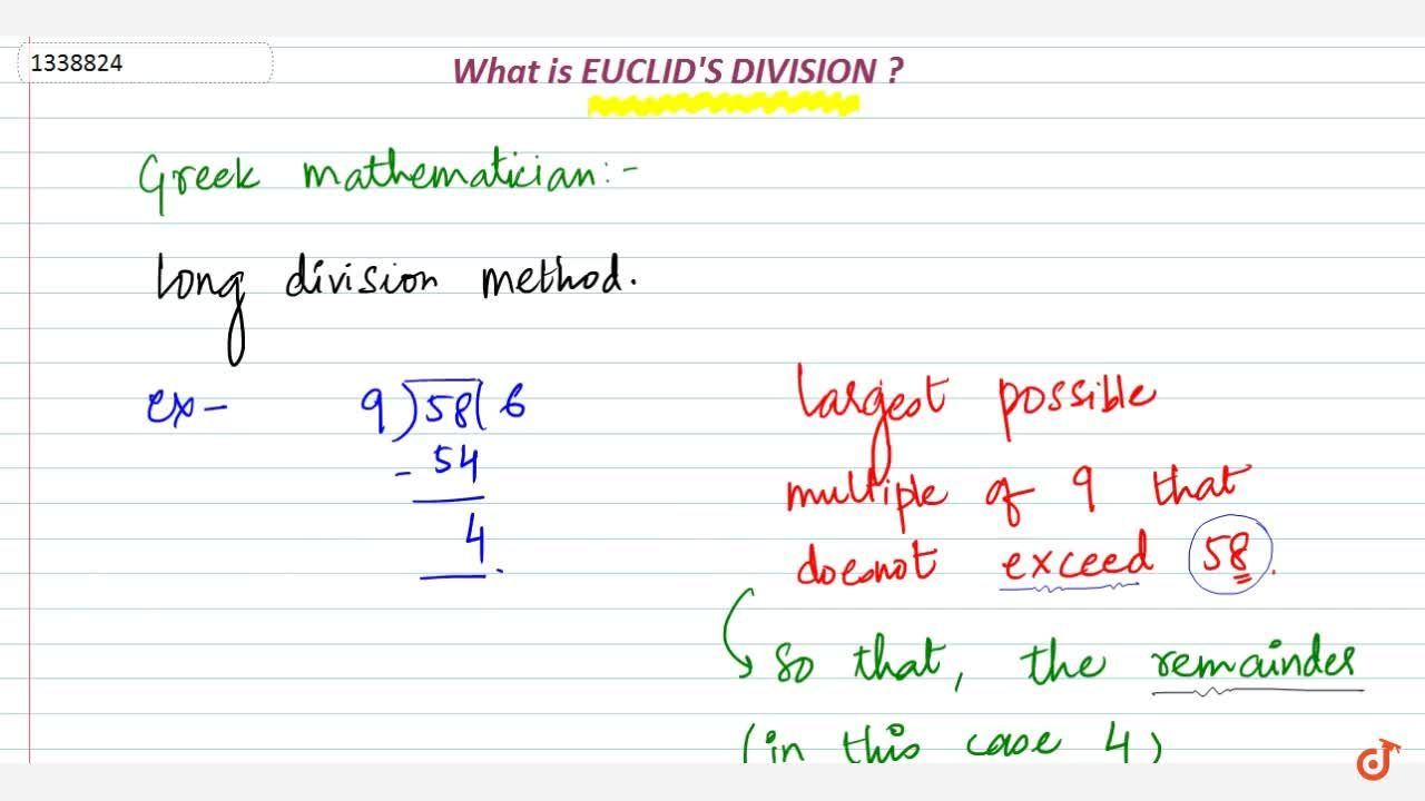 Solution for What is Euclid Division ?