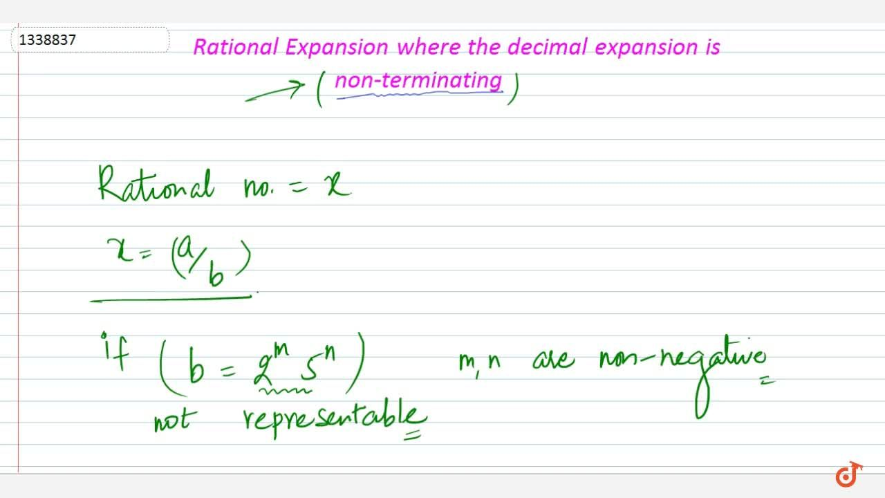 Rational numbers where decimal expansion is non-terminating