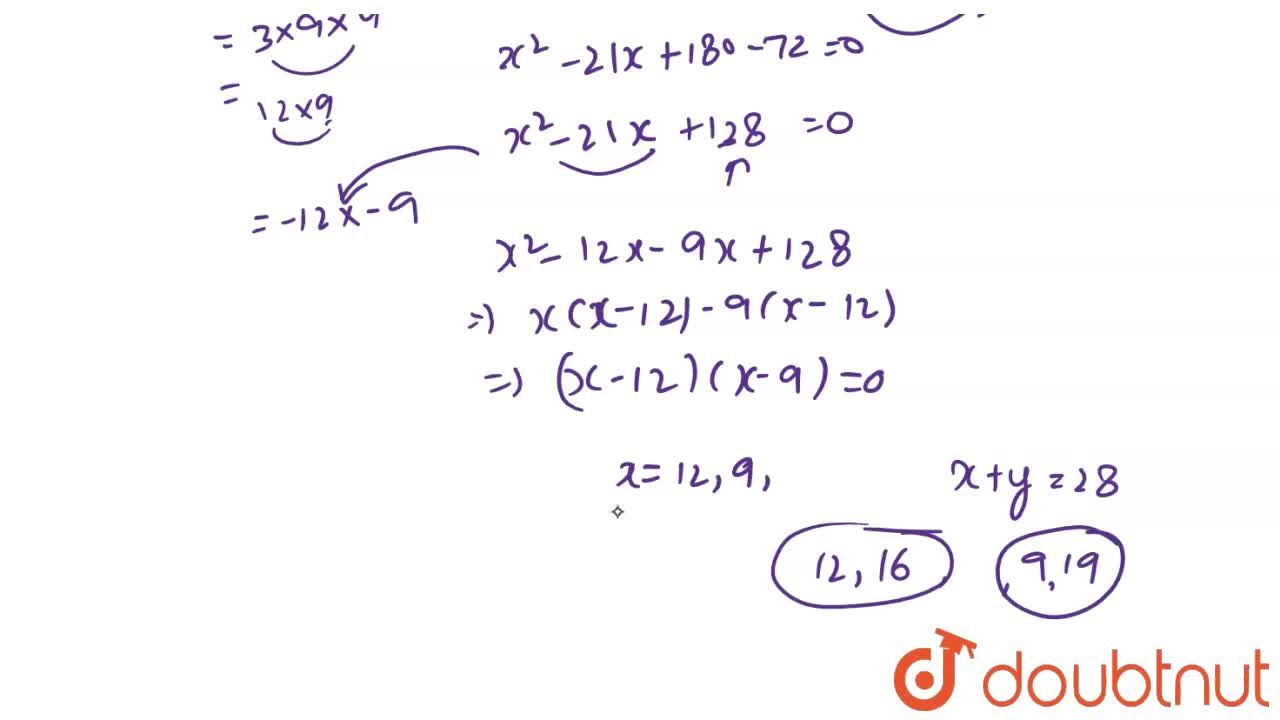Solution for In a class test, the sum of the marks obtained by