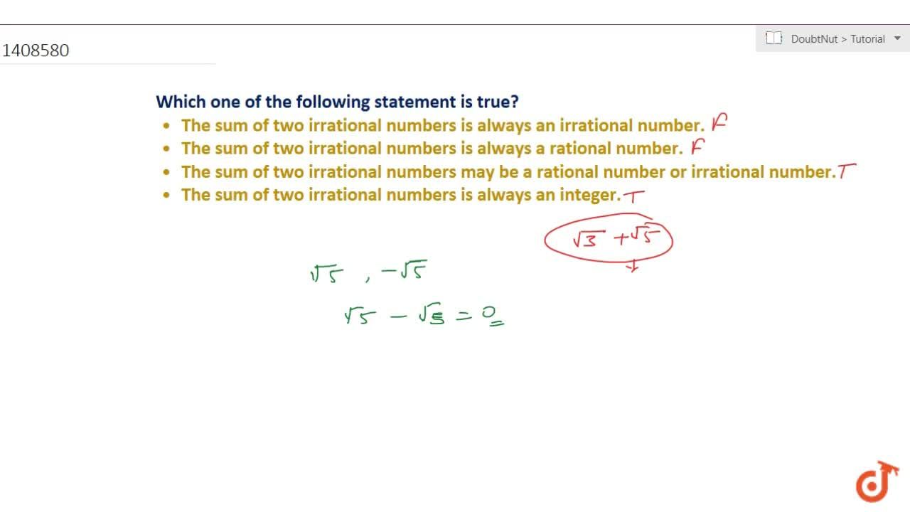 Solution for Which one of the following statement is true? The